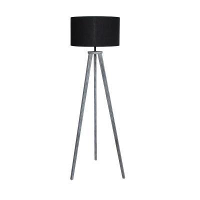 Állólámpa, három lábbal, 135 cm, fekete - MONT NOIR
