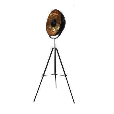 Fém állólámpa, 160 cm, fekete-arany - AUDITION