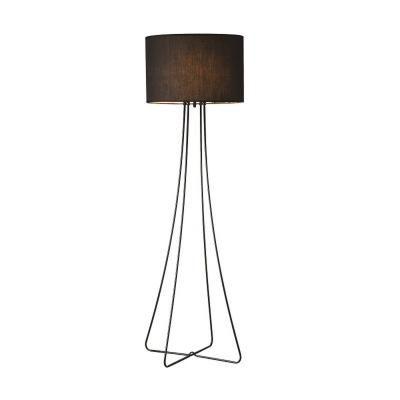 Modern állólámpa, hajlított fém lábakkal, 135 cm, fekete - CELINE