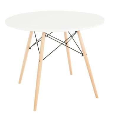 Modern étkezőasztal, fa lábbal kerek 80cm - FJORD