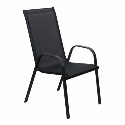 Modern kültéri szék, fekete - CIGALE