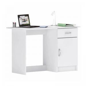 Számítógépasztal 1 fiókkal, fehér - LILLY