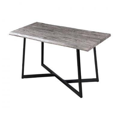 Étkezőasztal 160x80 cm, szürkésbarna - LOFT IN SAN FRANCISCO