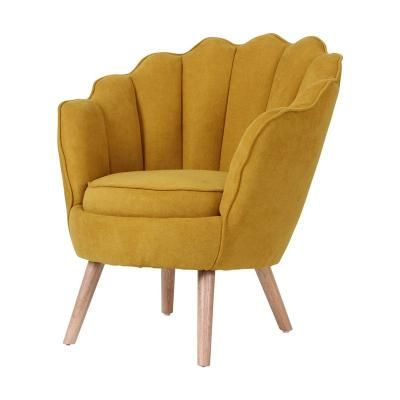 Kagyló formájú fotel, sárga - MARGUERITE