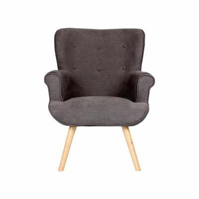 Modern karfás fotel, antracit - COTTAGE