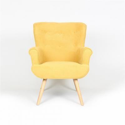 Modern karfás fotel, sárga - COTTAGE