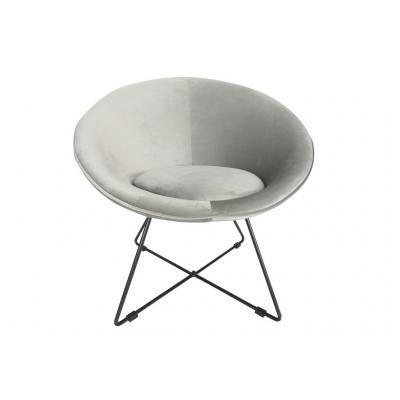 Modern kerek fotel, szürke - OVNI