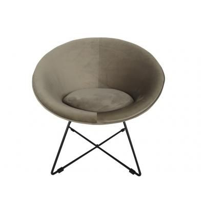 Modern kerek fotel, szürkésbarna - OVNI