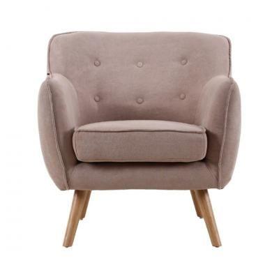 Retro fotel gombokkal, bézs - CINOCHE