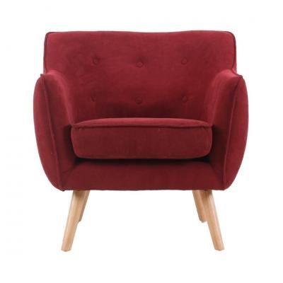 Retro fotel gombokkal, burgundi - CINOCHE
