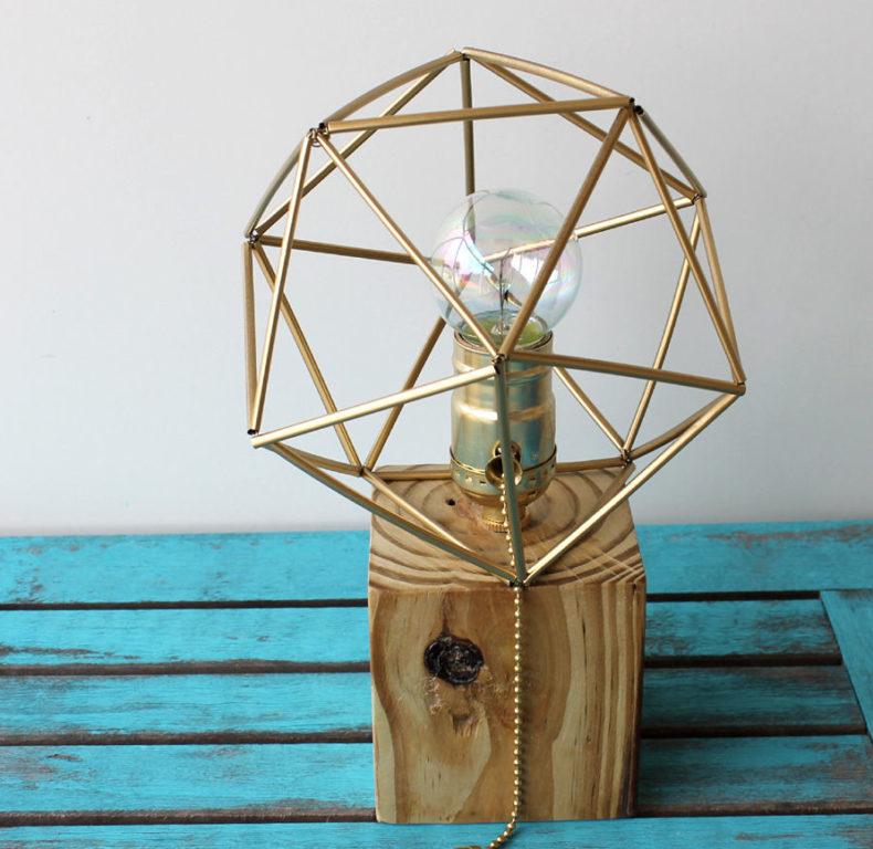 geometrikus himmeli lámpa