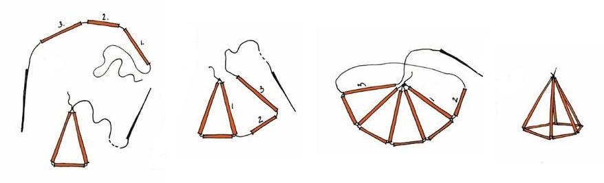 Geometrikus himmeli készítés: 1. lépés