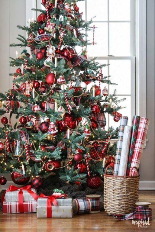 klasszikus piros karácsonyfa