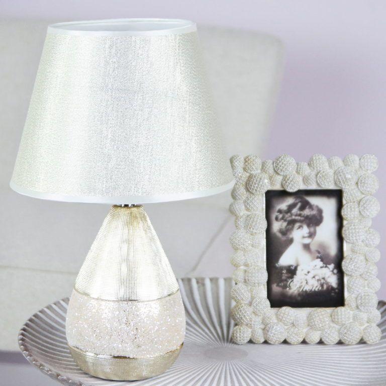 fém dekoráció asztali lámpa GOUTTE D'OR