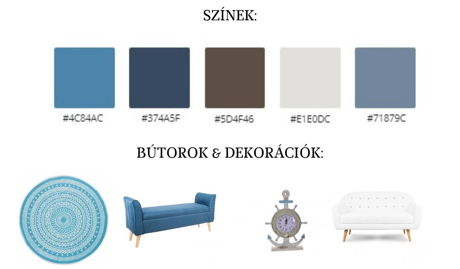 otthon berendezése három színnel