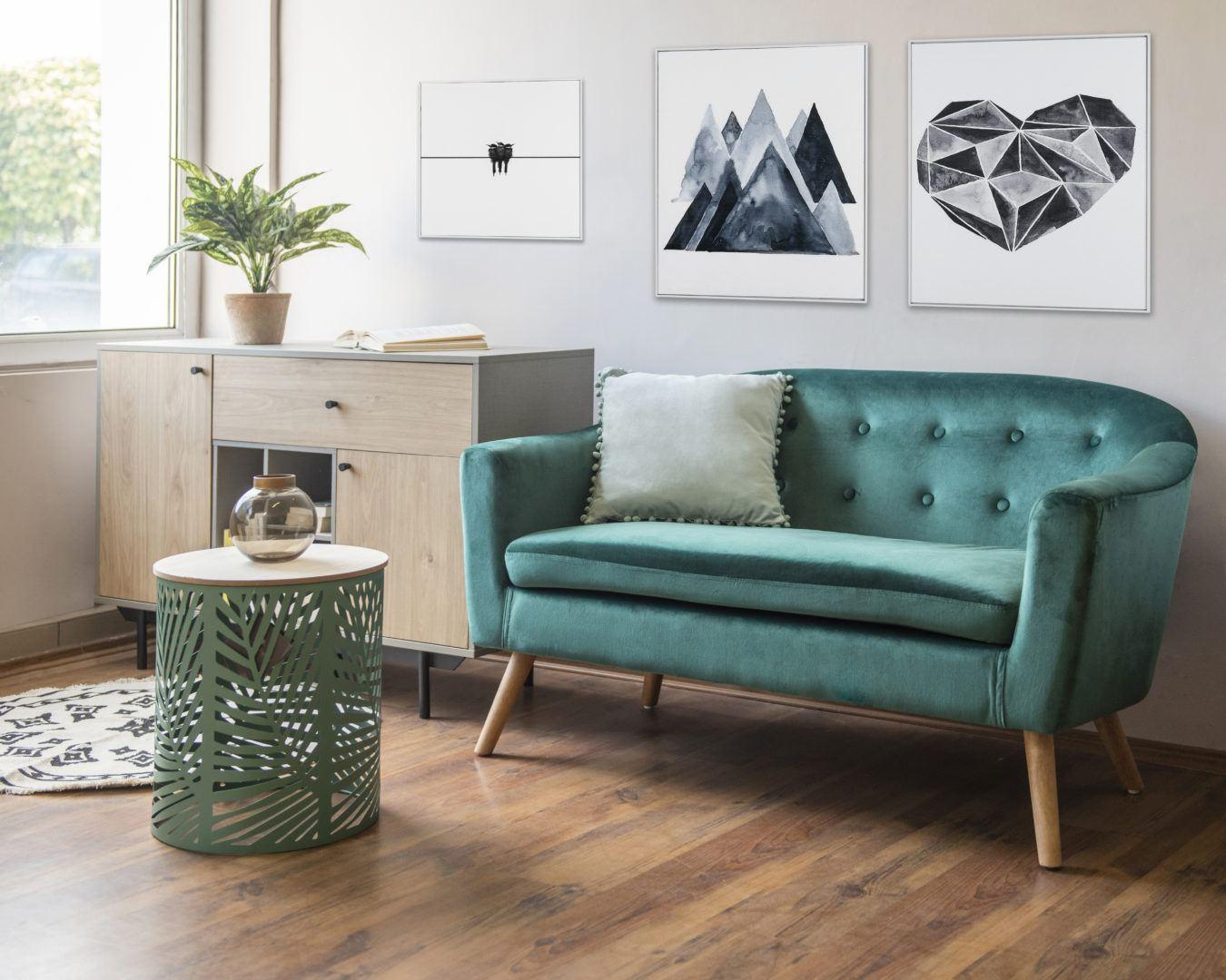 harmonikus otthon zöld és barna színnel, plusz egy kis szürkével