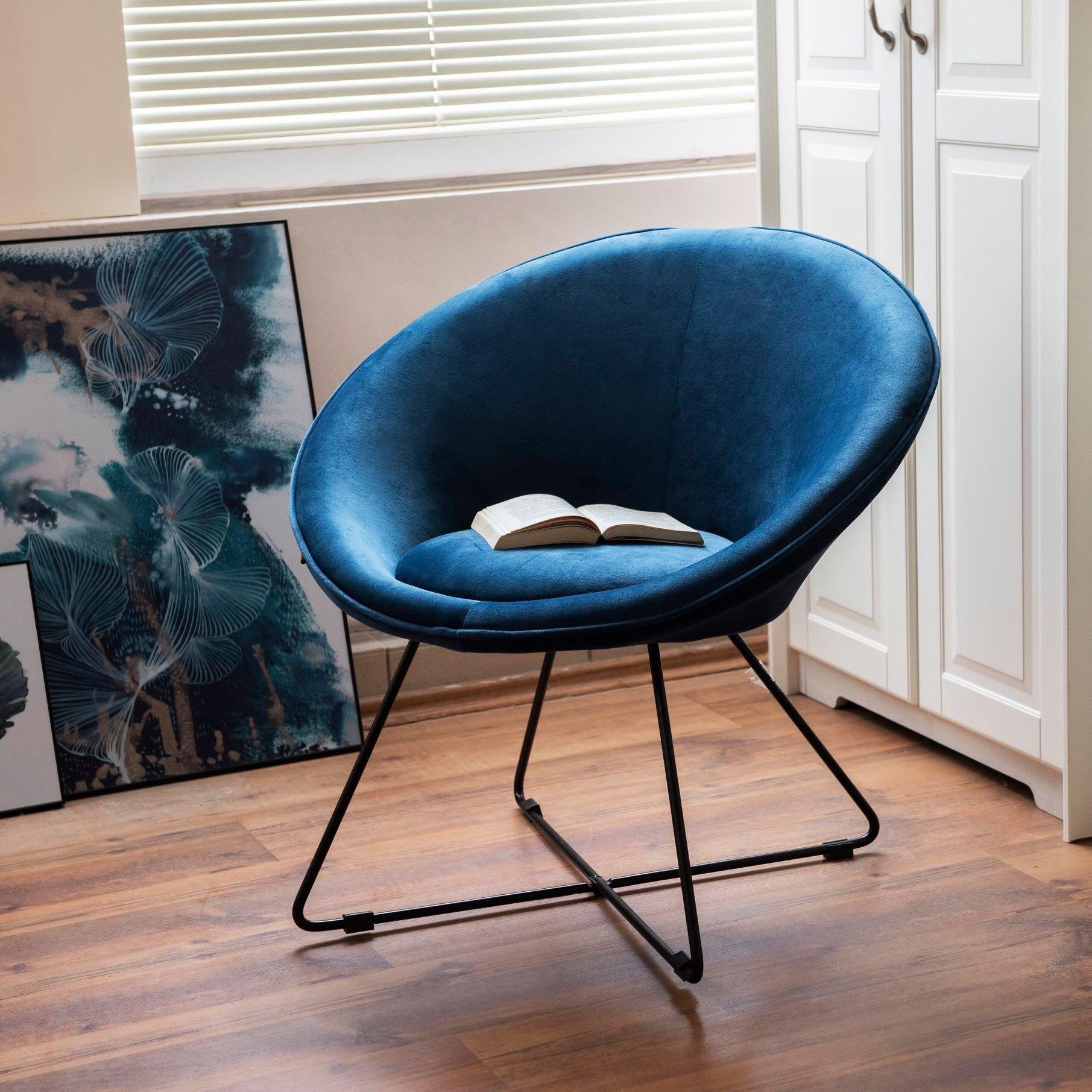 Modern kerek fotel, középkék - OVNI