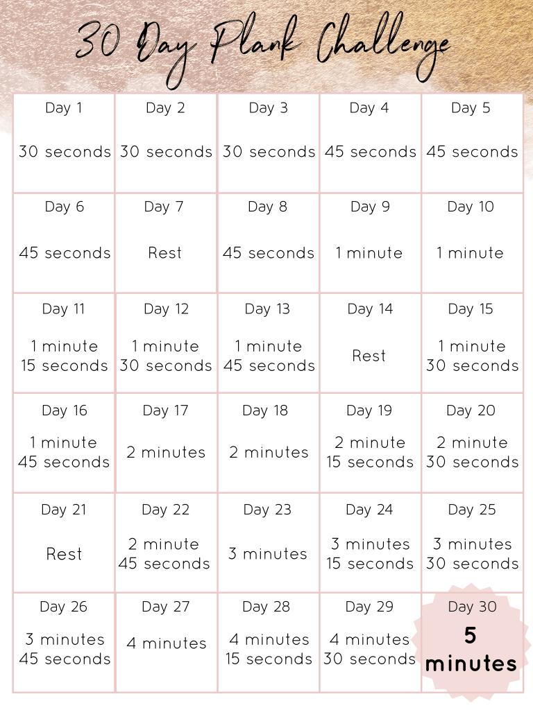 Otthoni programok - Plank kihívás