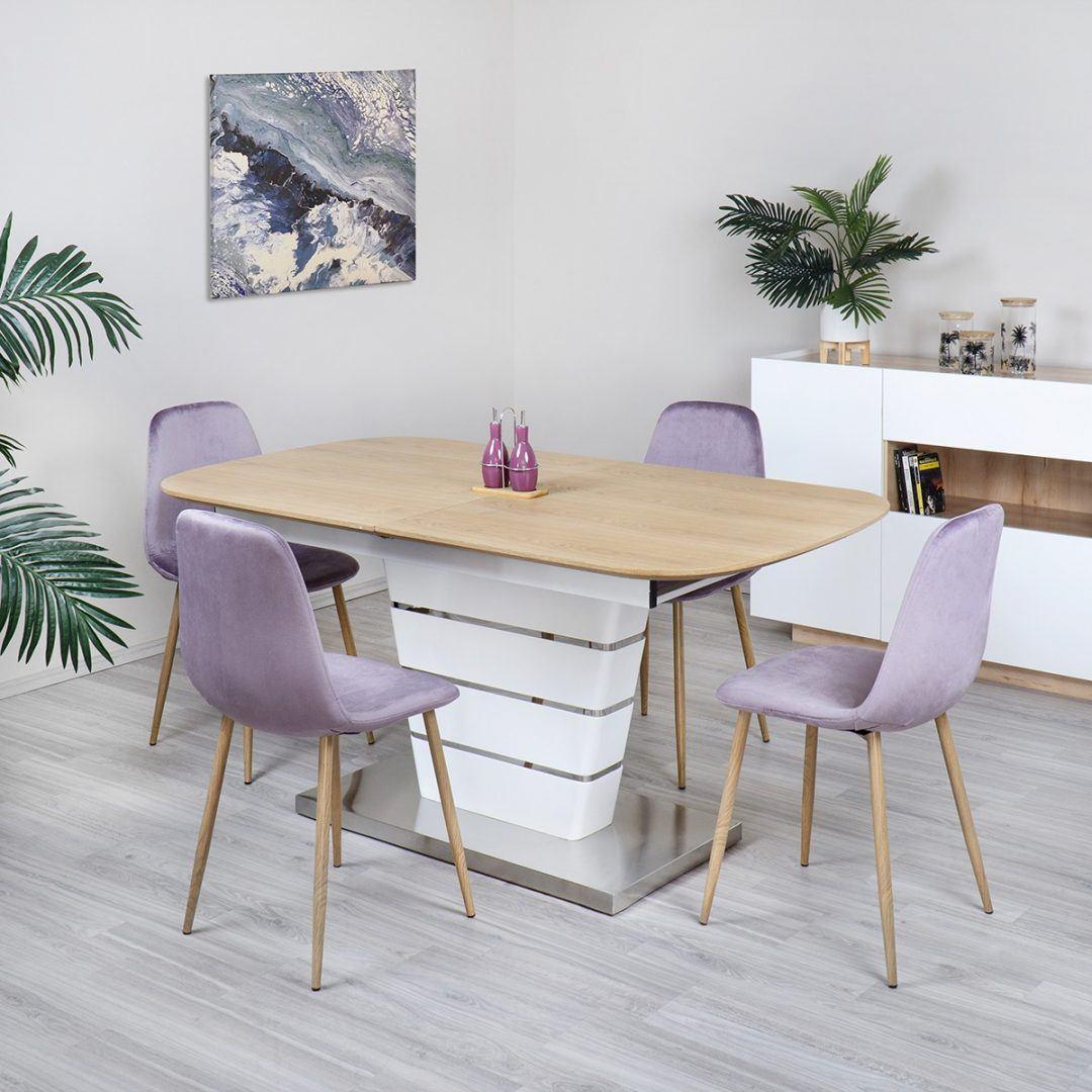 Furnér étkezőasztal
