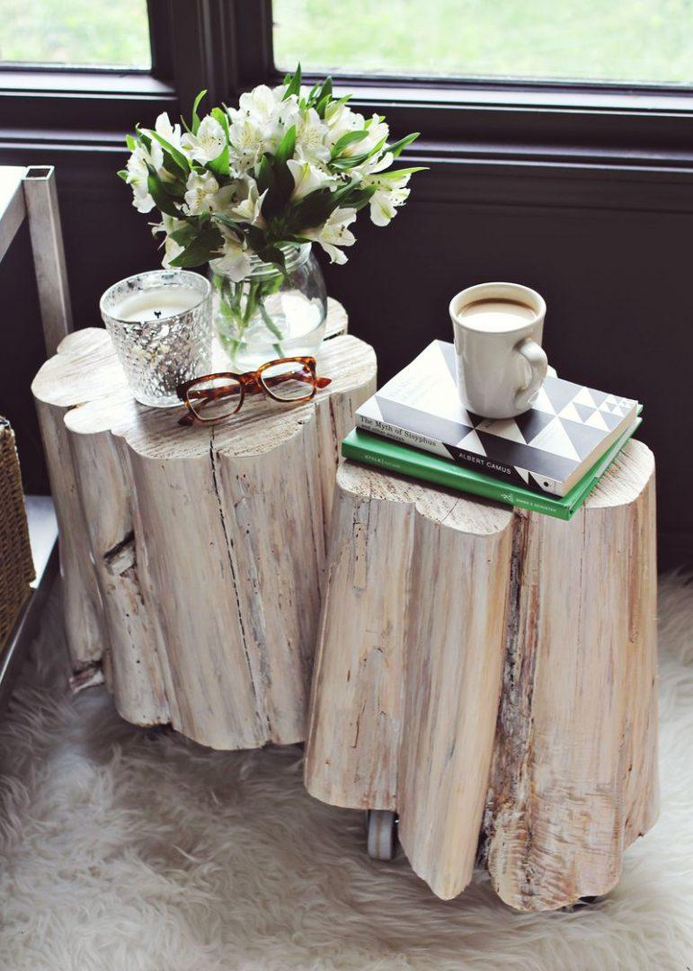 Természetes újrahasznsított fa bútorok