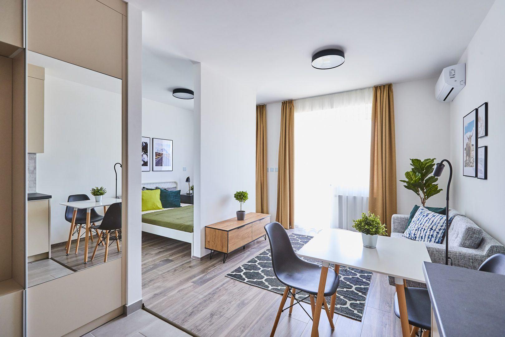 Megfizethető albérlet nappali