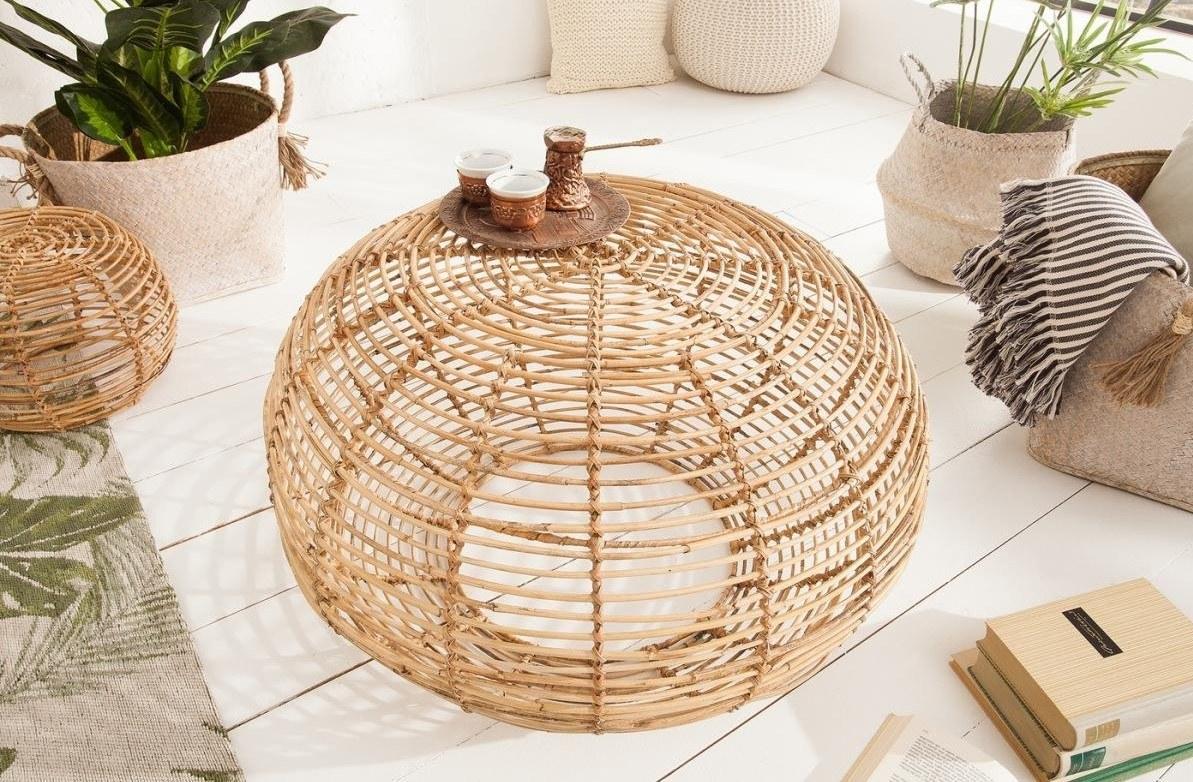 Rattan kisasztal - Fonott bútorok