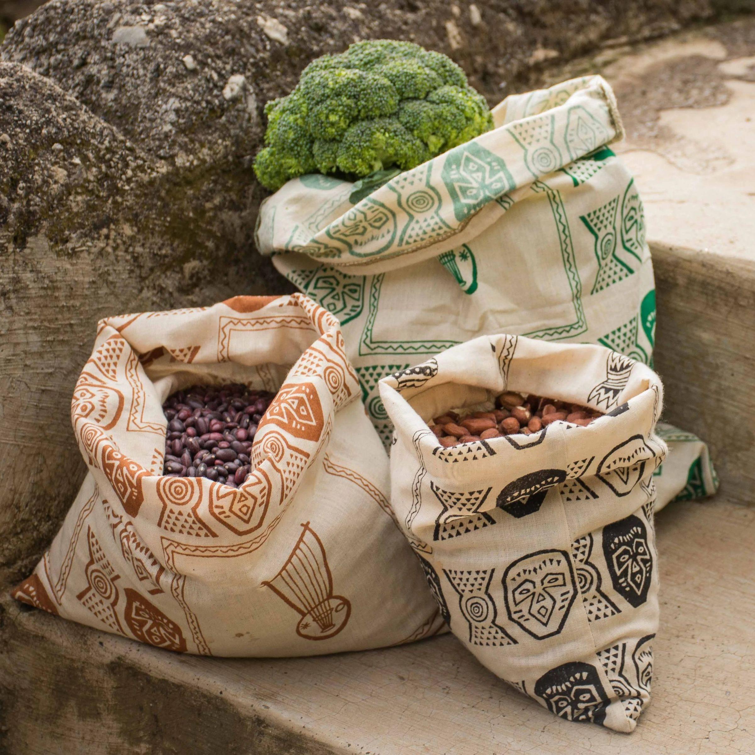 Textil zacskók bevásárláshoz