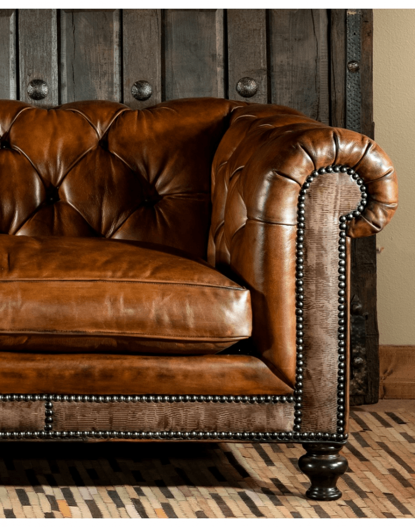 Chesterfield bőr kanapé